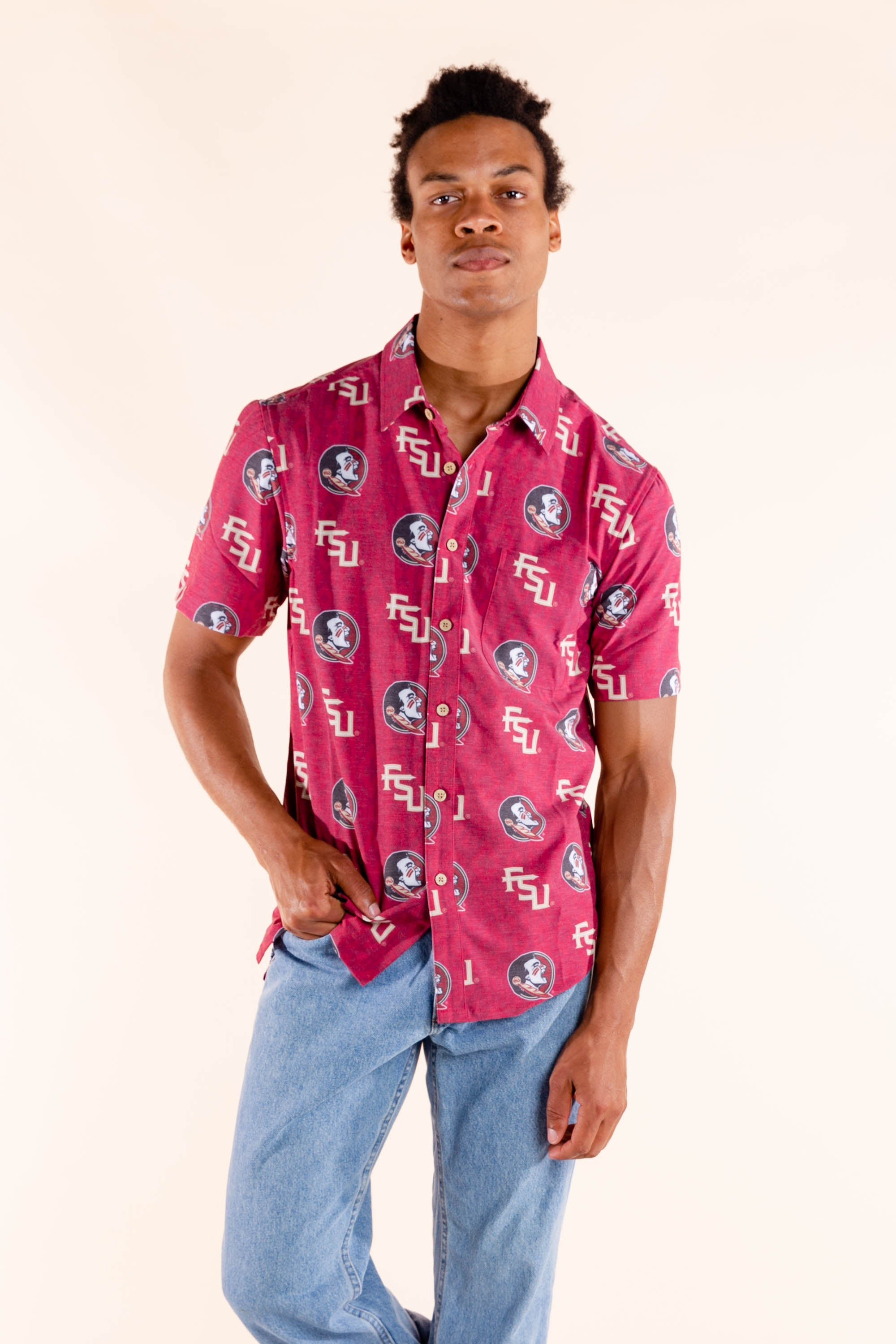 FSU men's hawaiian shirt