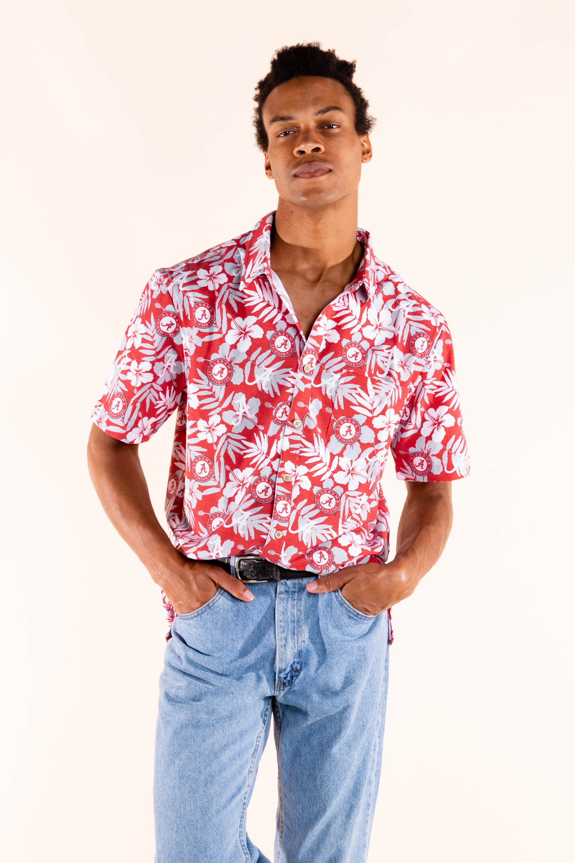 Men's hawaiian shirt alabama