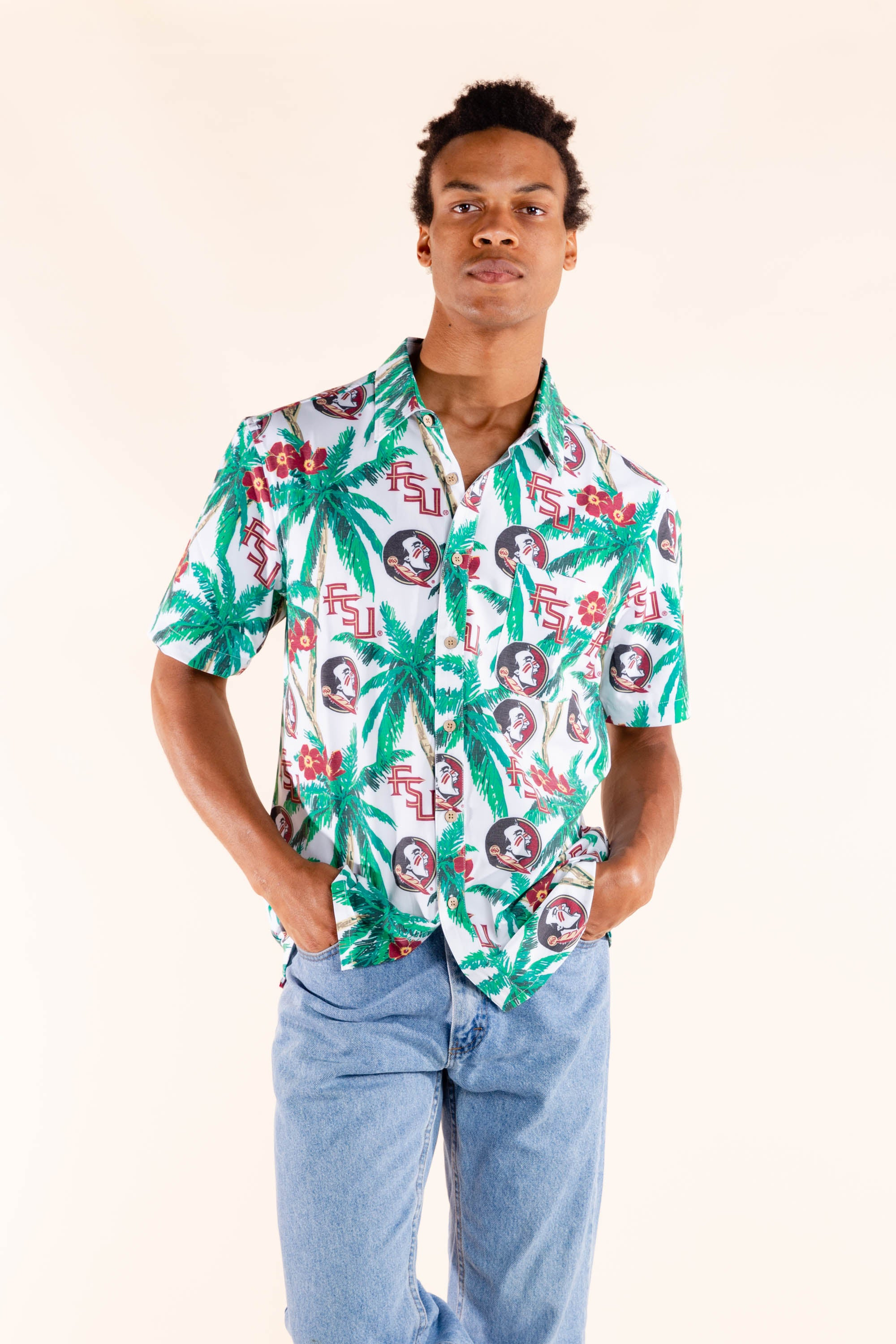 FSU palm tree hawaiian for men