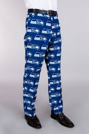 Seattle Seahawks Blue and White Football Pants