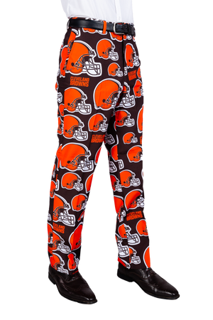 Cleveland Browns Brown and Orange Football Pants