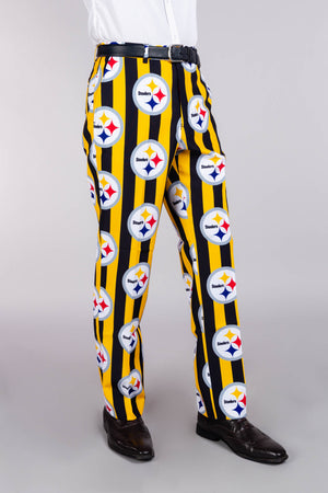 Pittsburgh Steelers Black and Yellow Football Pants