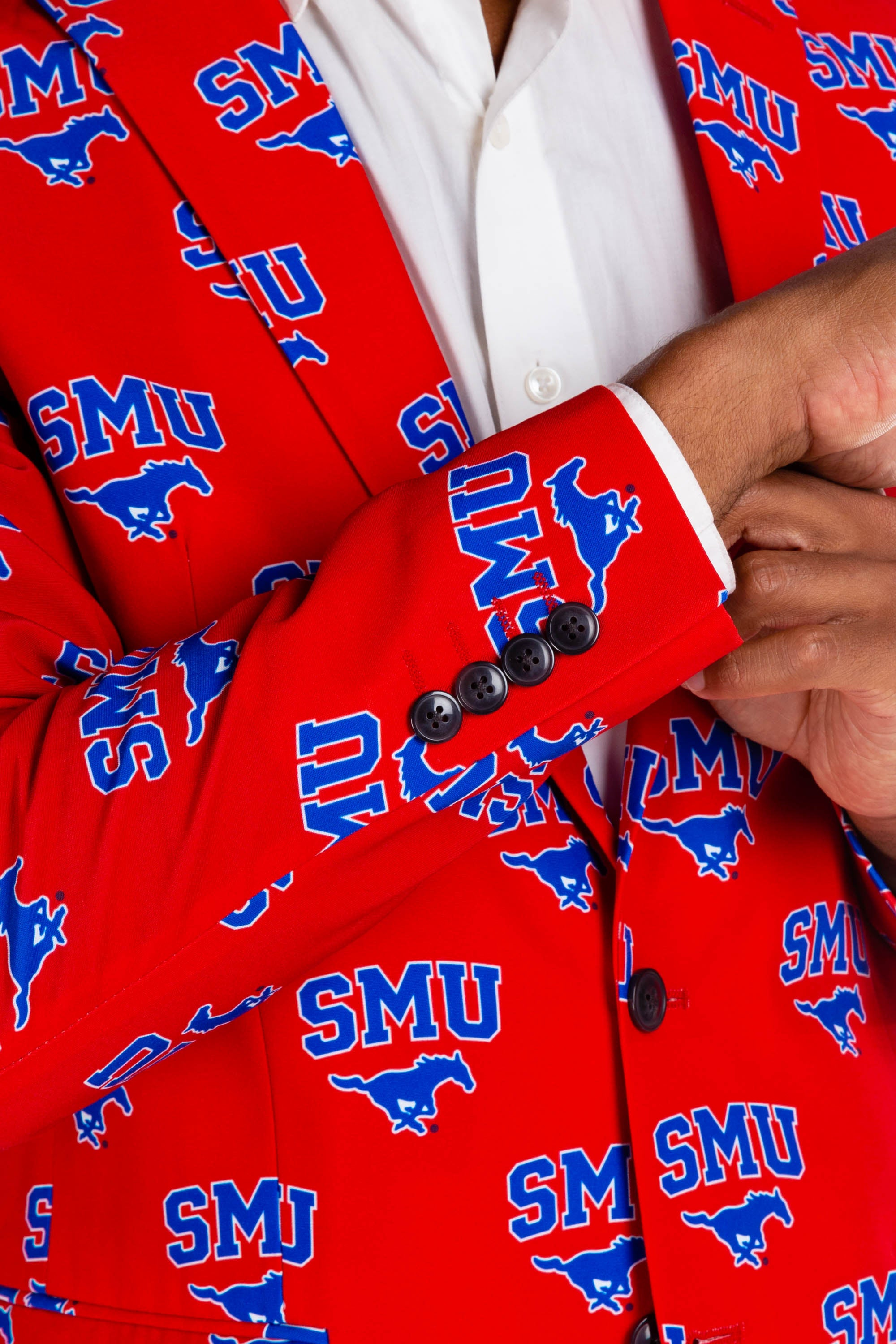 Southern Methodist University Blazer Cuff Detail