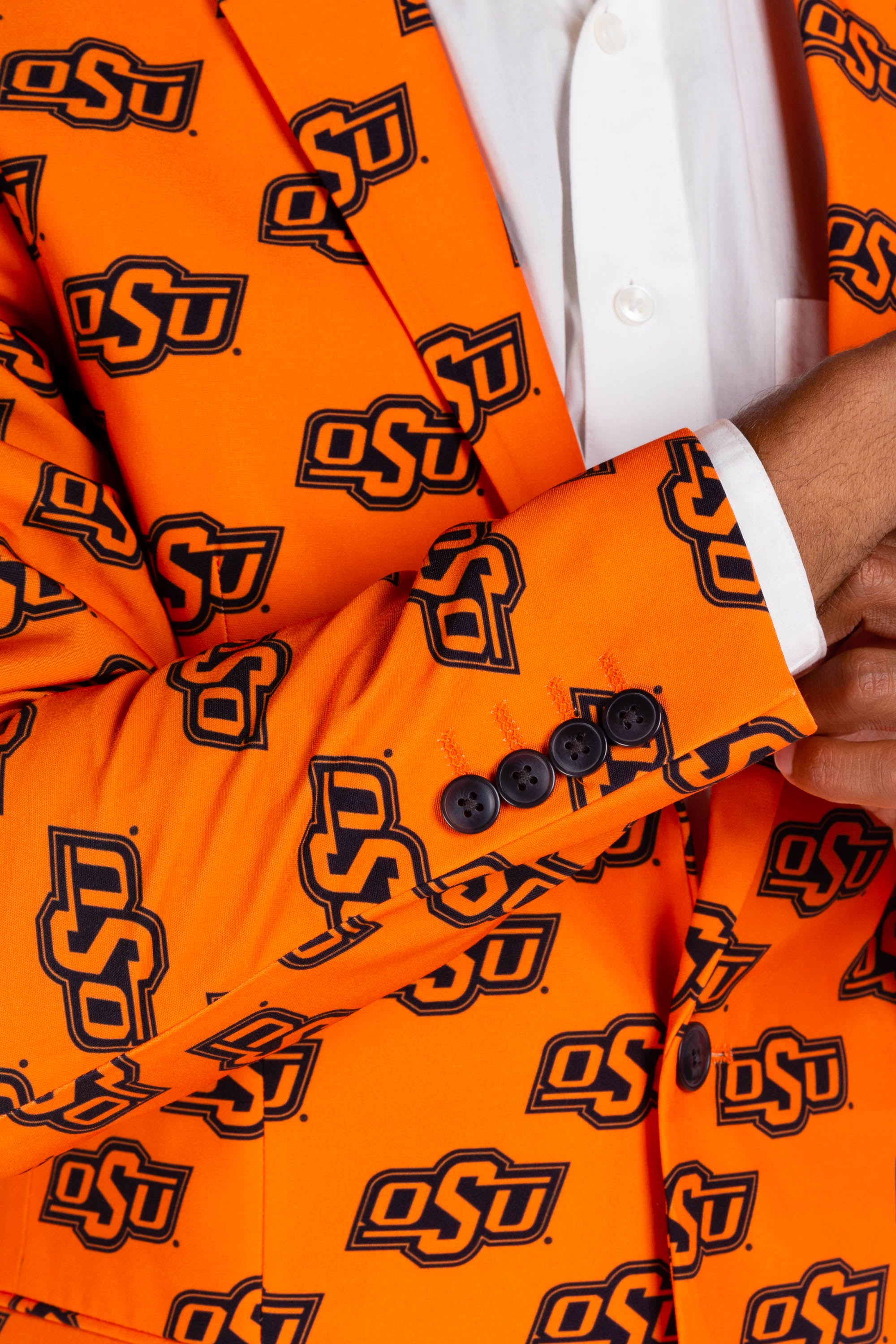 Oklahoma State University Gameday Blazer Cuff Detail