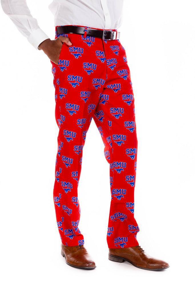 SMU printed gameday pants