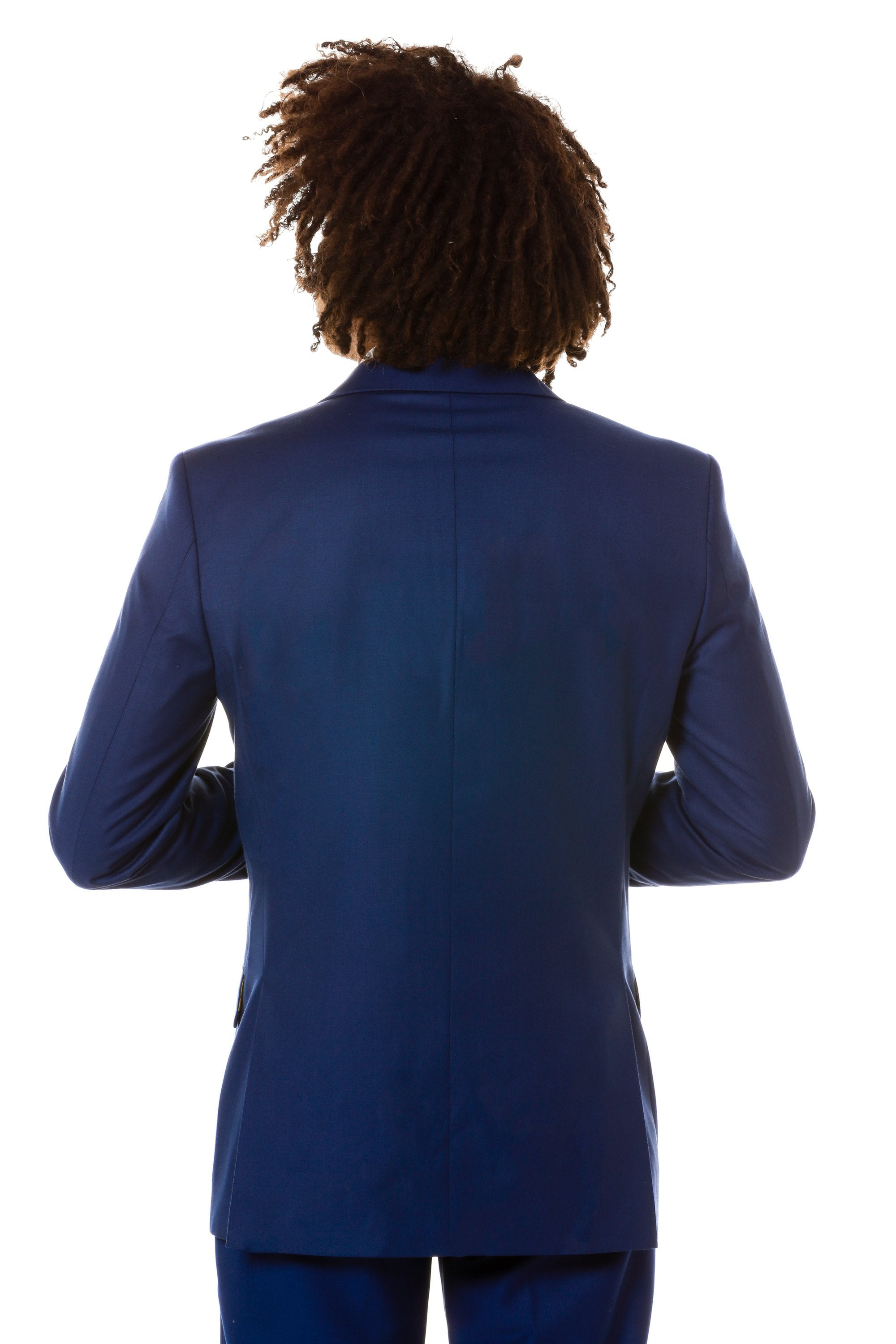 back view navy collegiate blazer