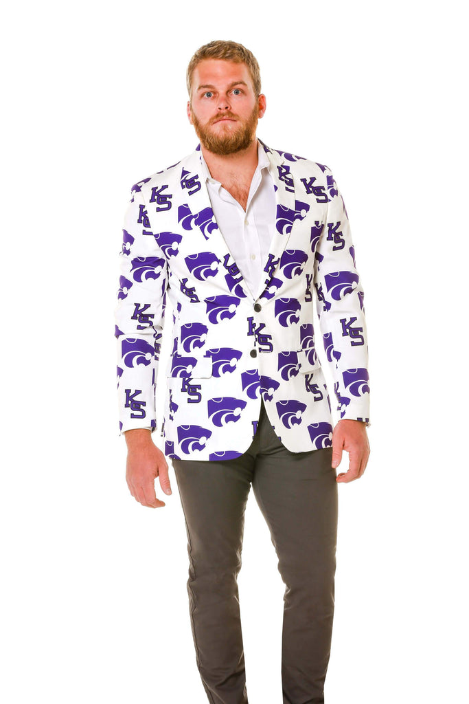 White and Purple Kansas State Wildcats Party Blazer