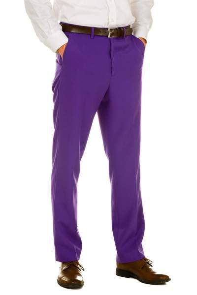 Guys Classy Purple Dress Pants