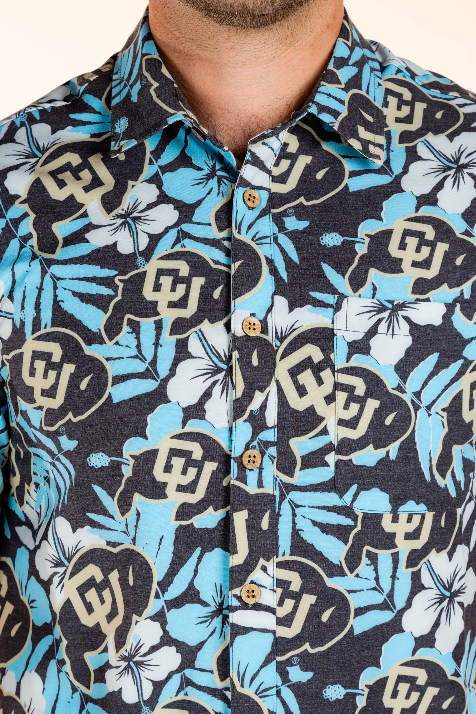University of Colorado Hawaiian Button Up Shirt