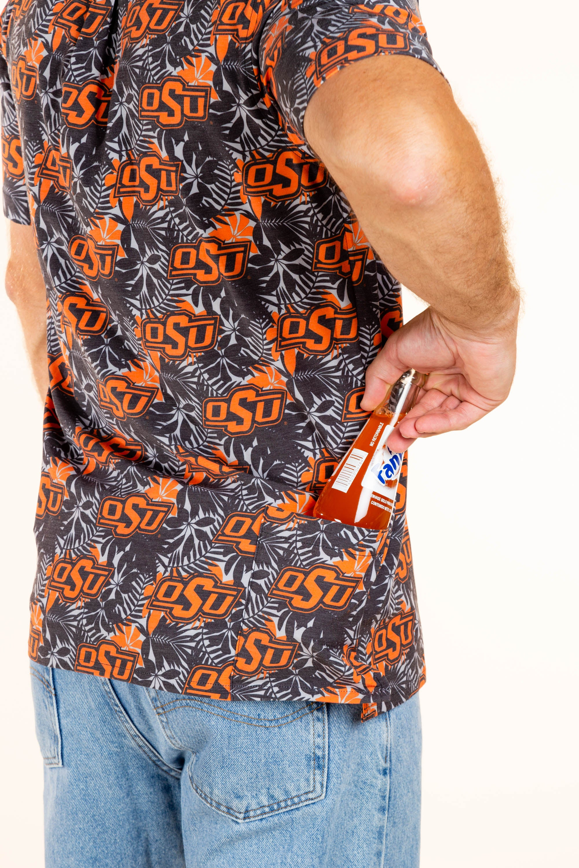 Oklahoma State button up shirt with extra pocket