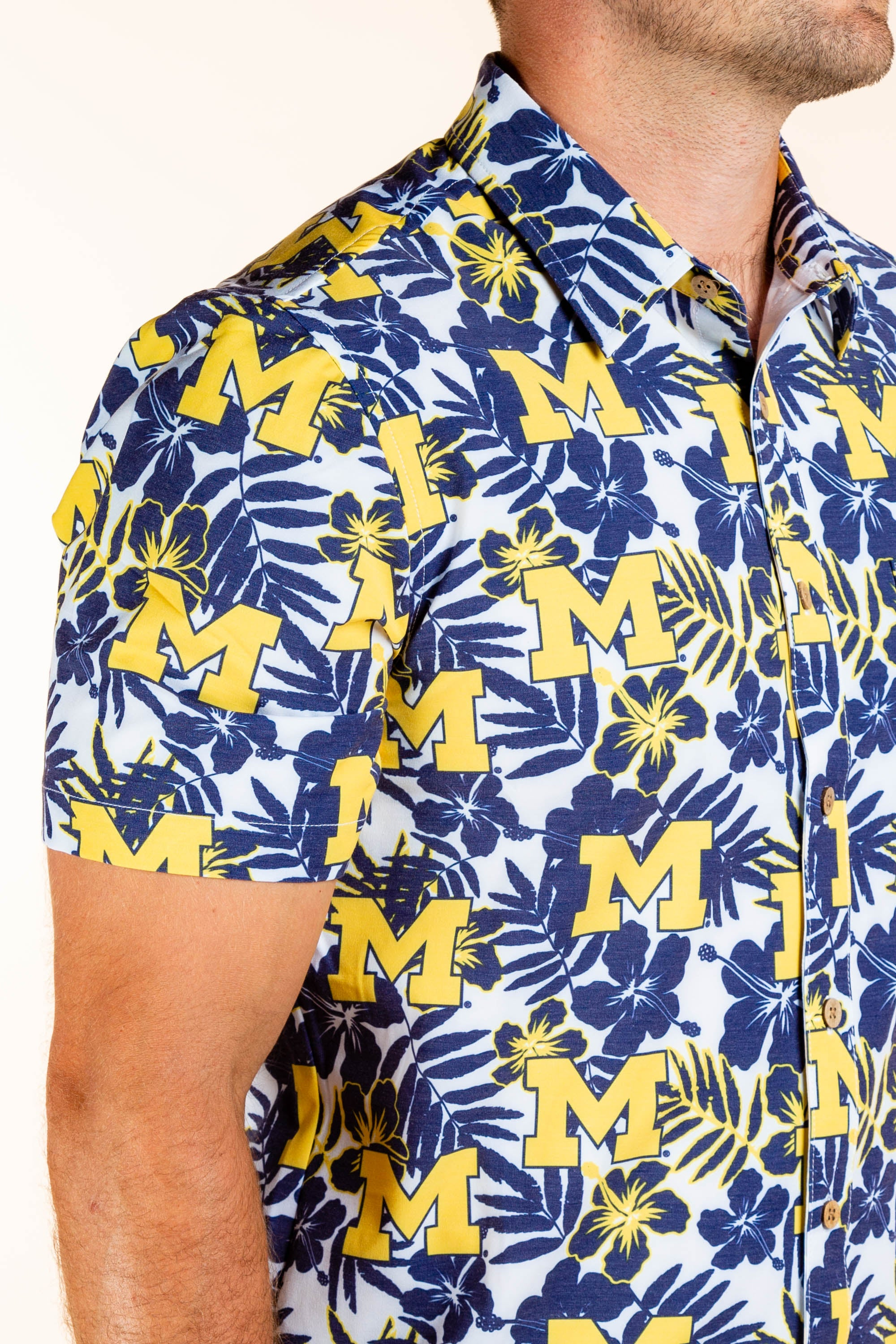 University of Michigan Button Up Party Shirt
