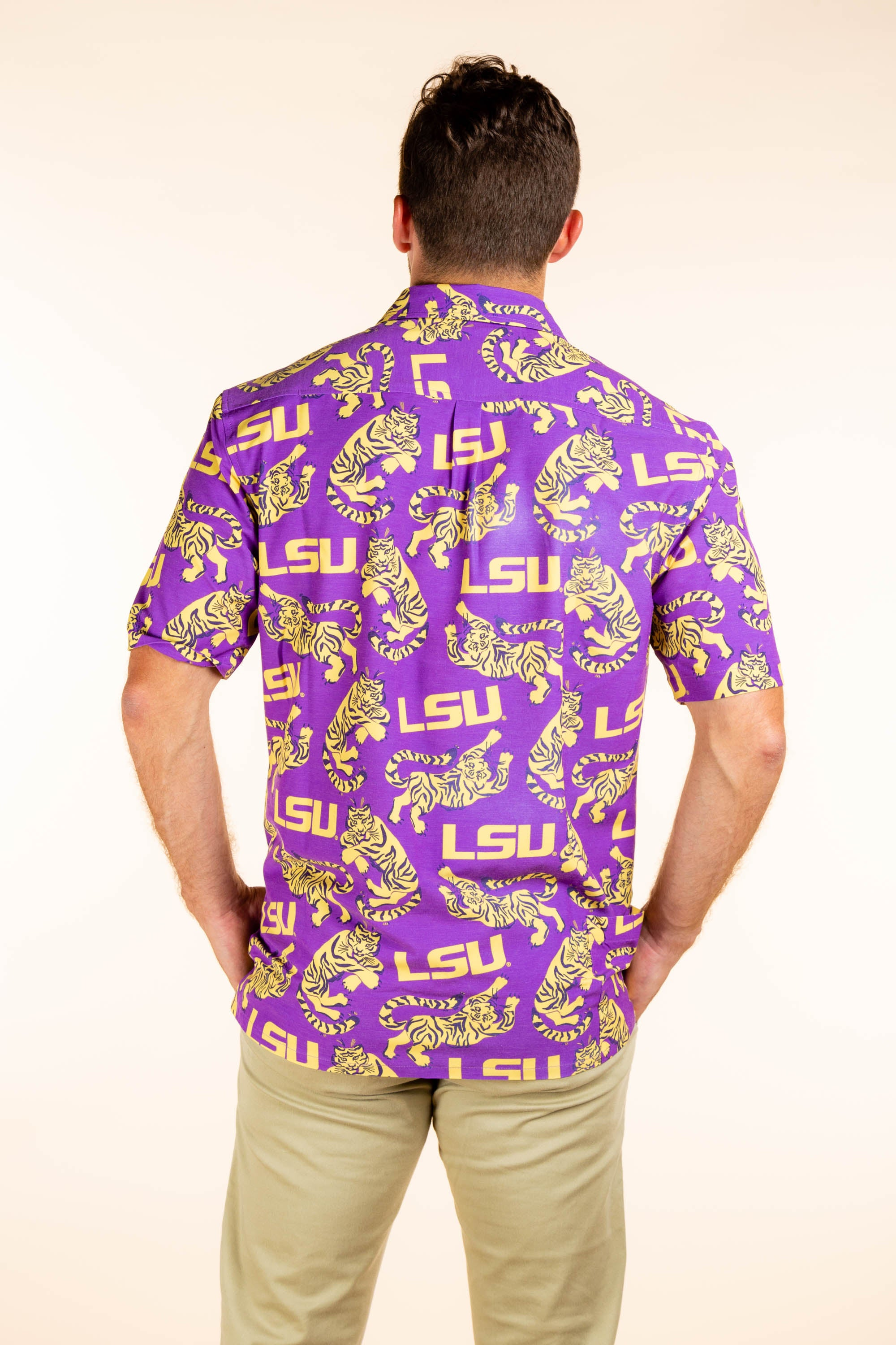 LSU Tigers Button Up Party Shirt