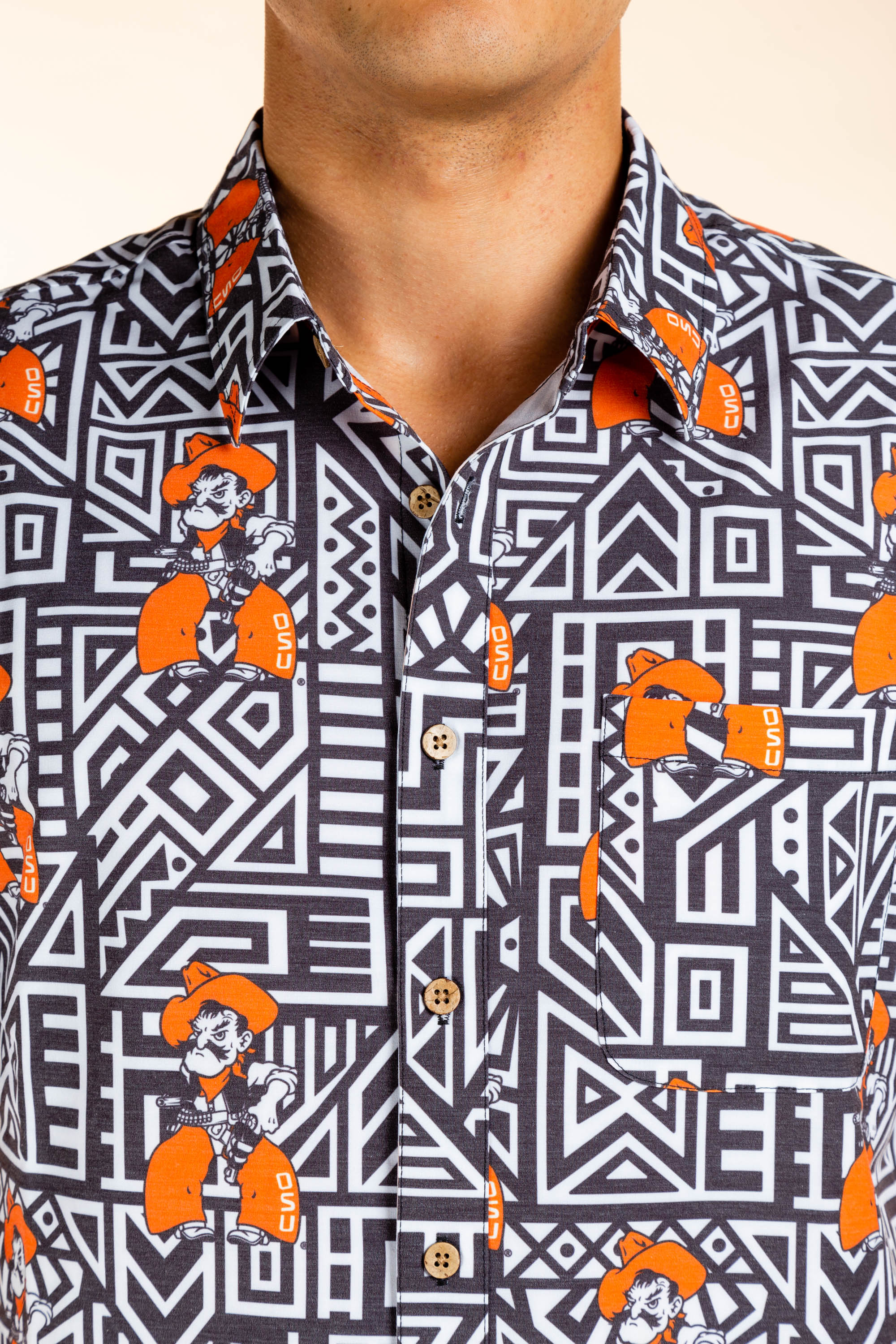Men's button up Pistol Pete Party Shirt