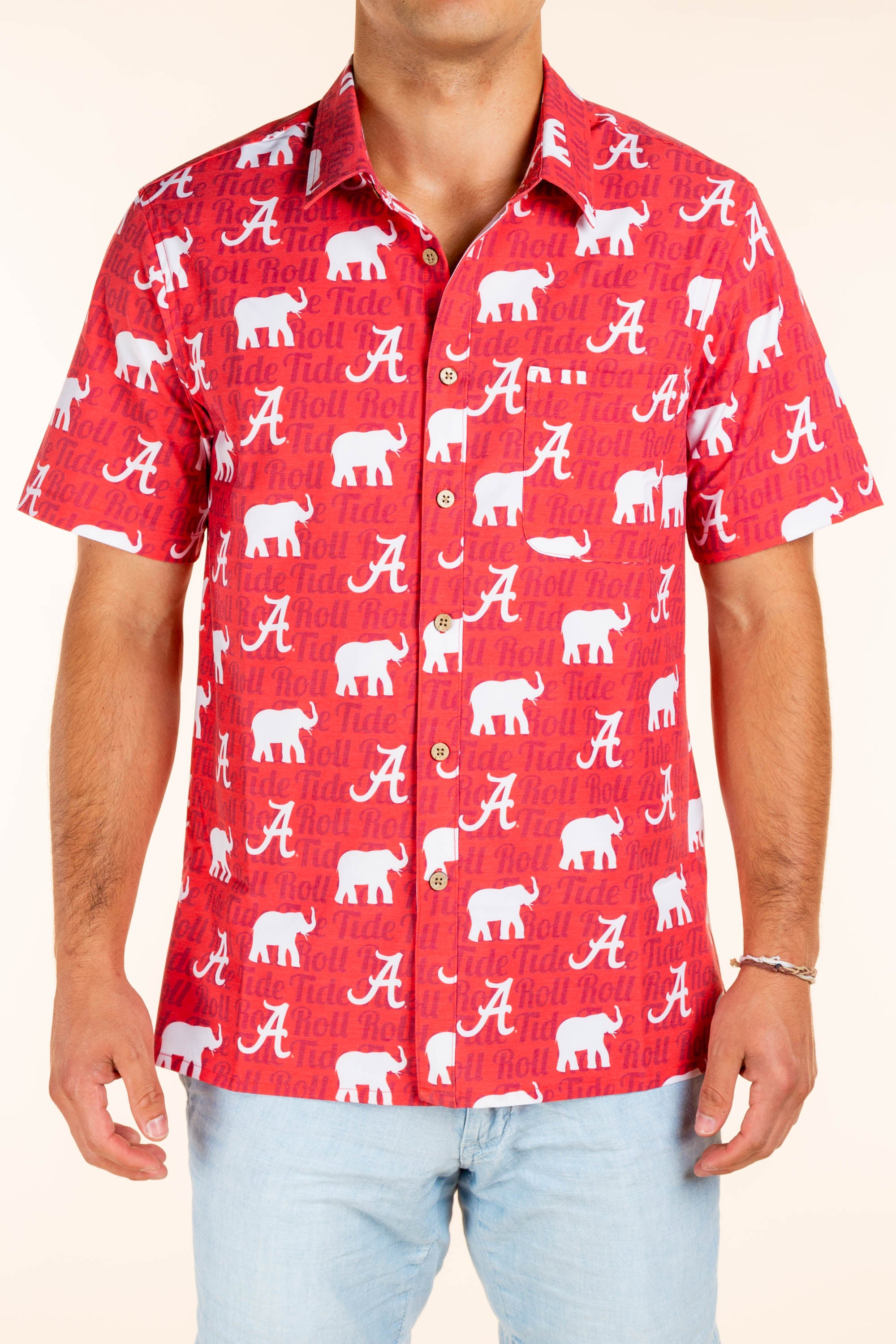 University of Alabama Red Button Up Shirt