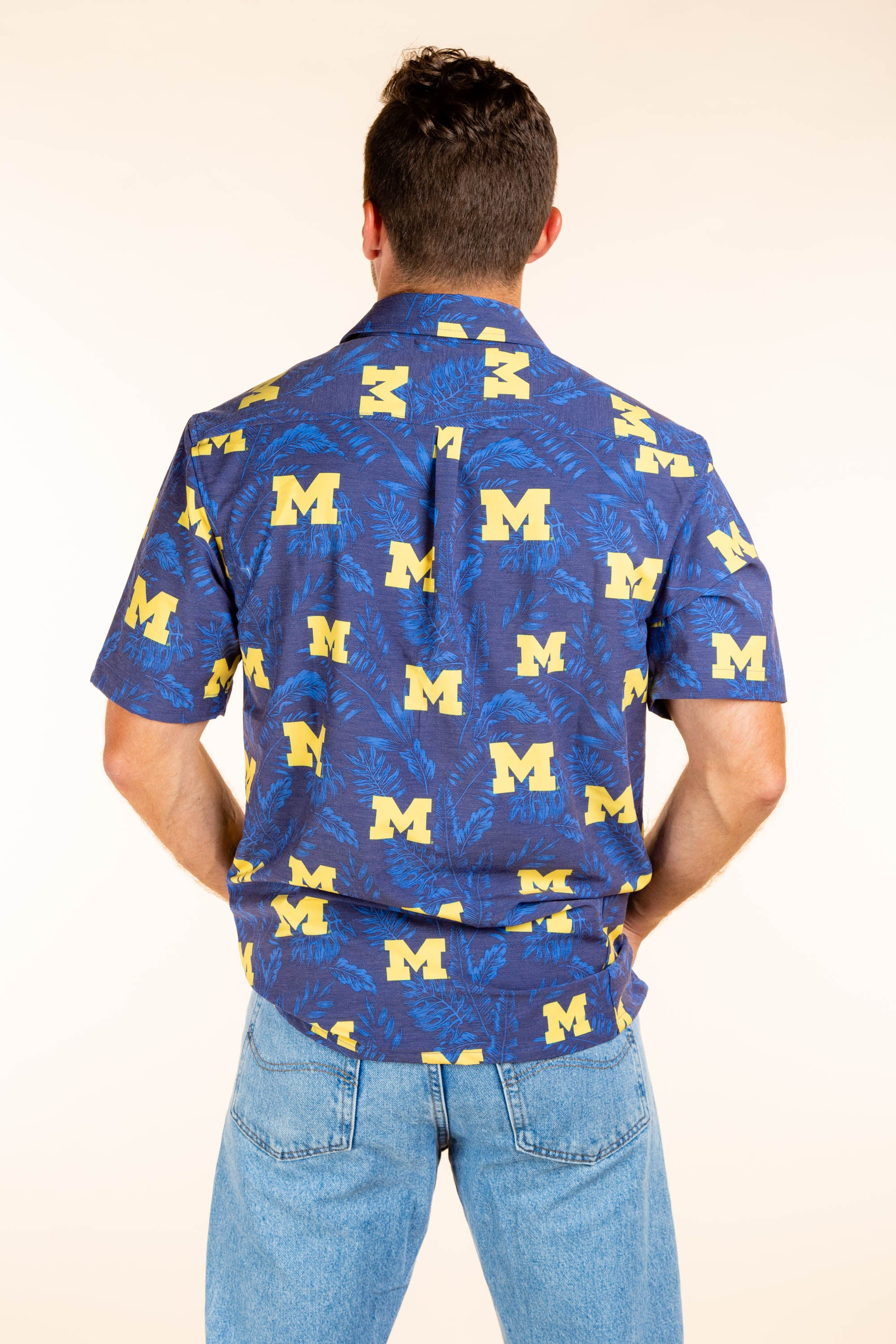 University of Michigan Button Up Tailgating Shirt