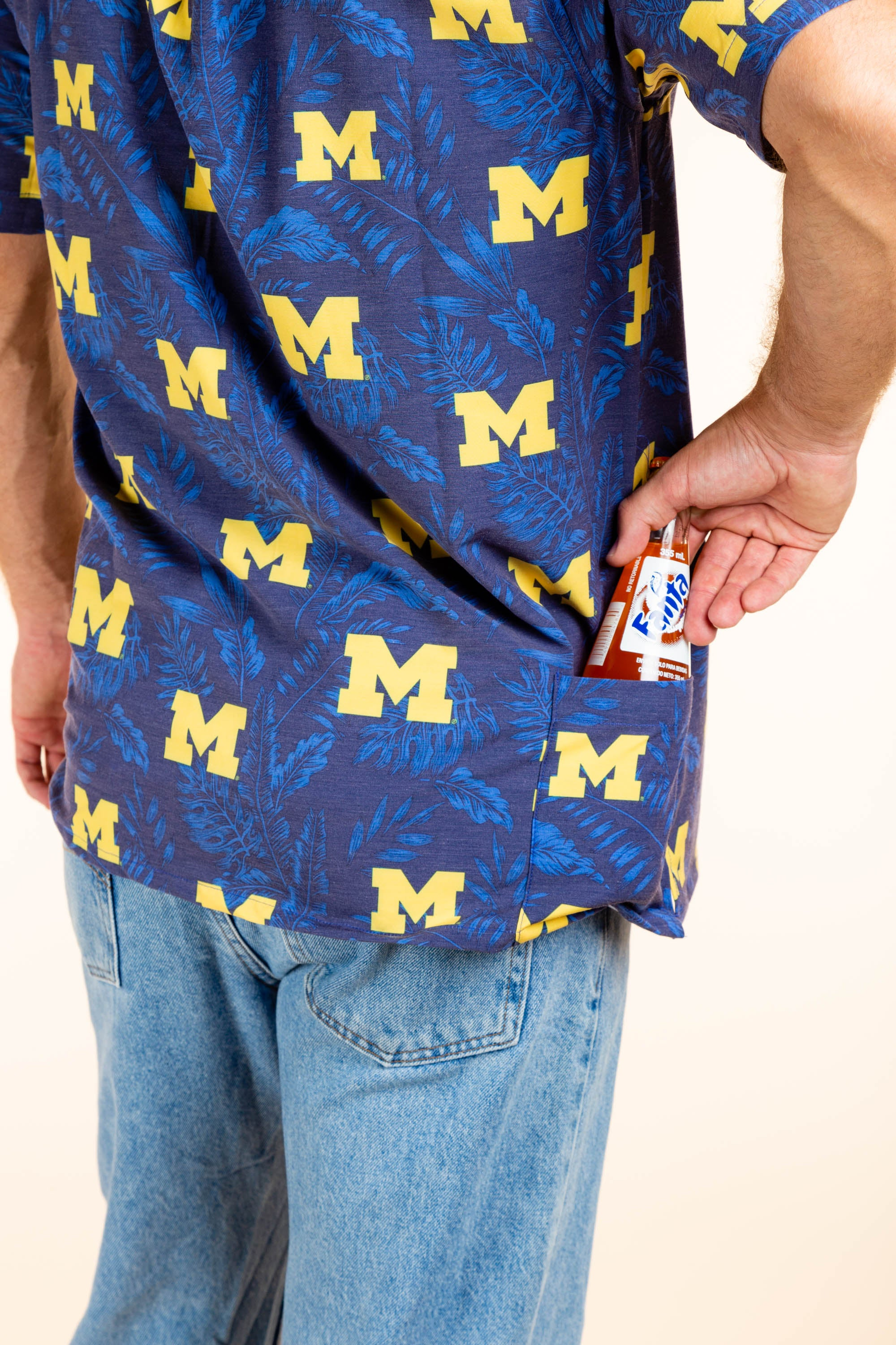 University of Michigan Tailgating shirt with extra pocket