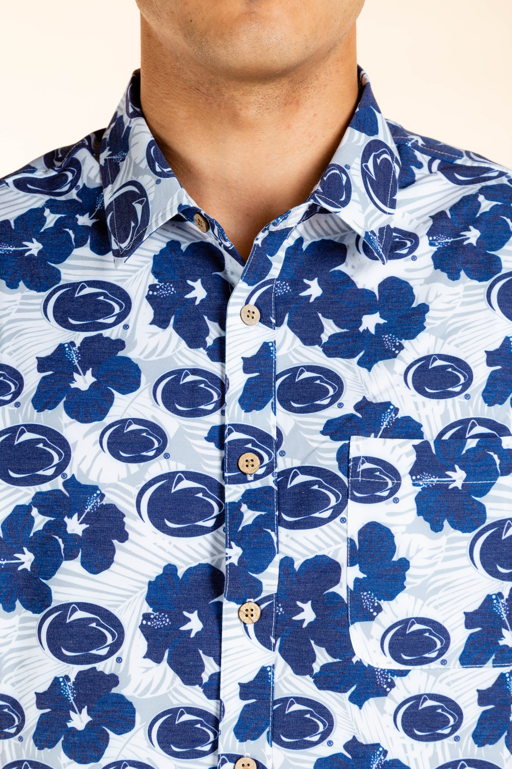 Penn State Button Up Hawaiian Tailgating Shirt