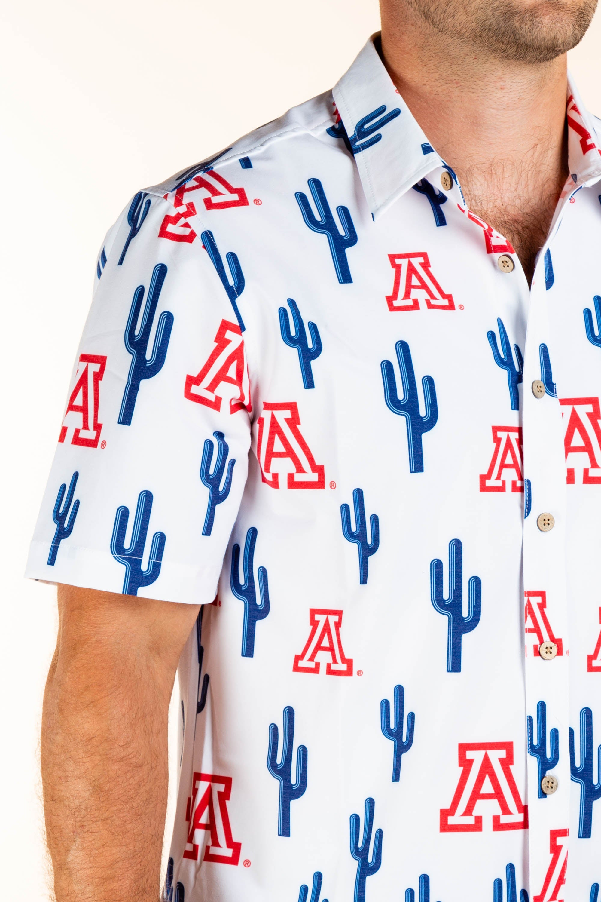 Save My Seat in ZonaZoo | University of Arizona Hawaiian Shirt