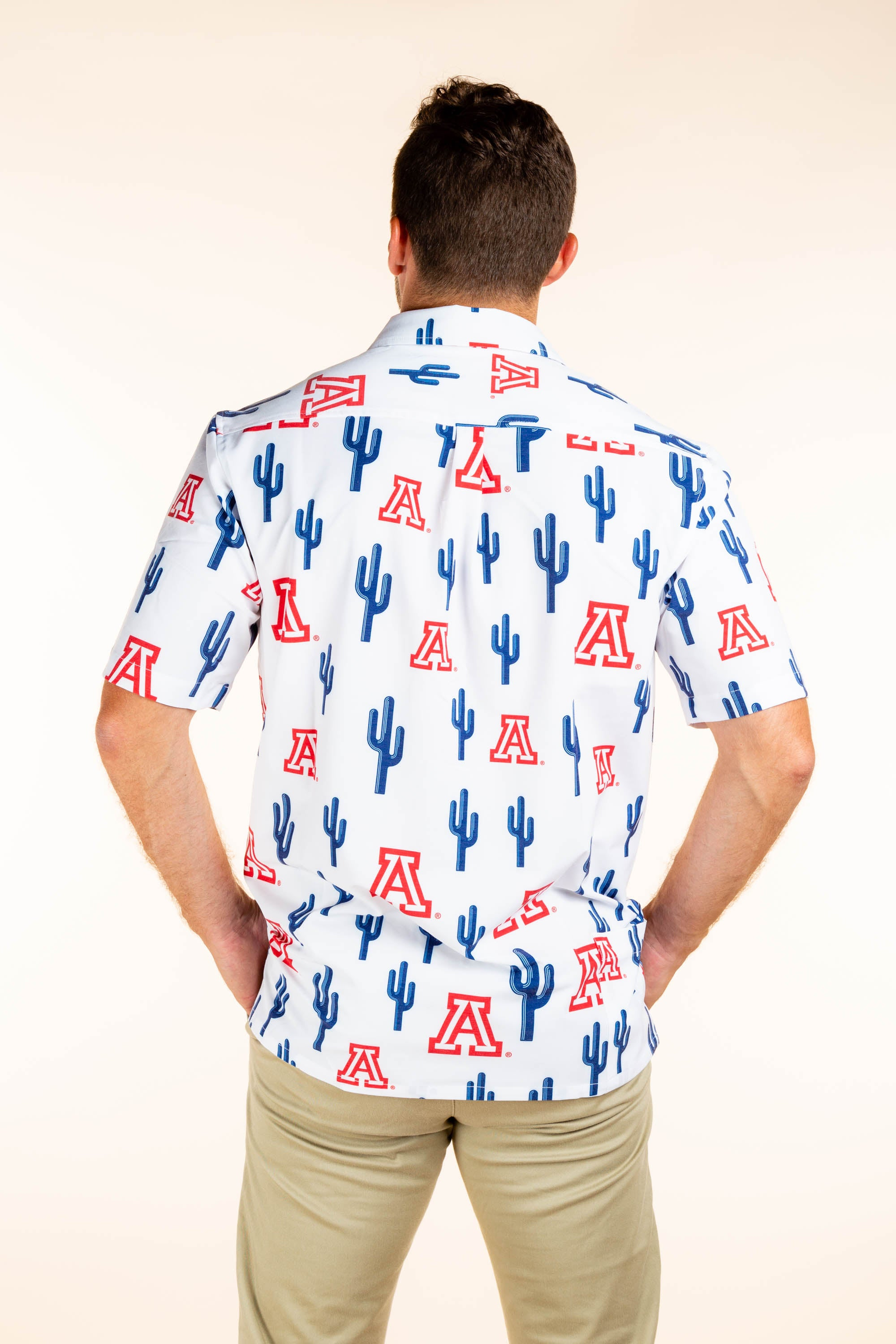 U of A men's hawaiian shirt