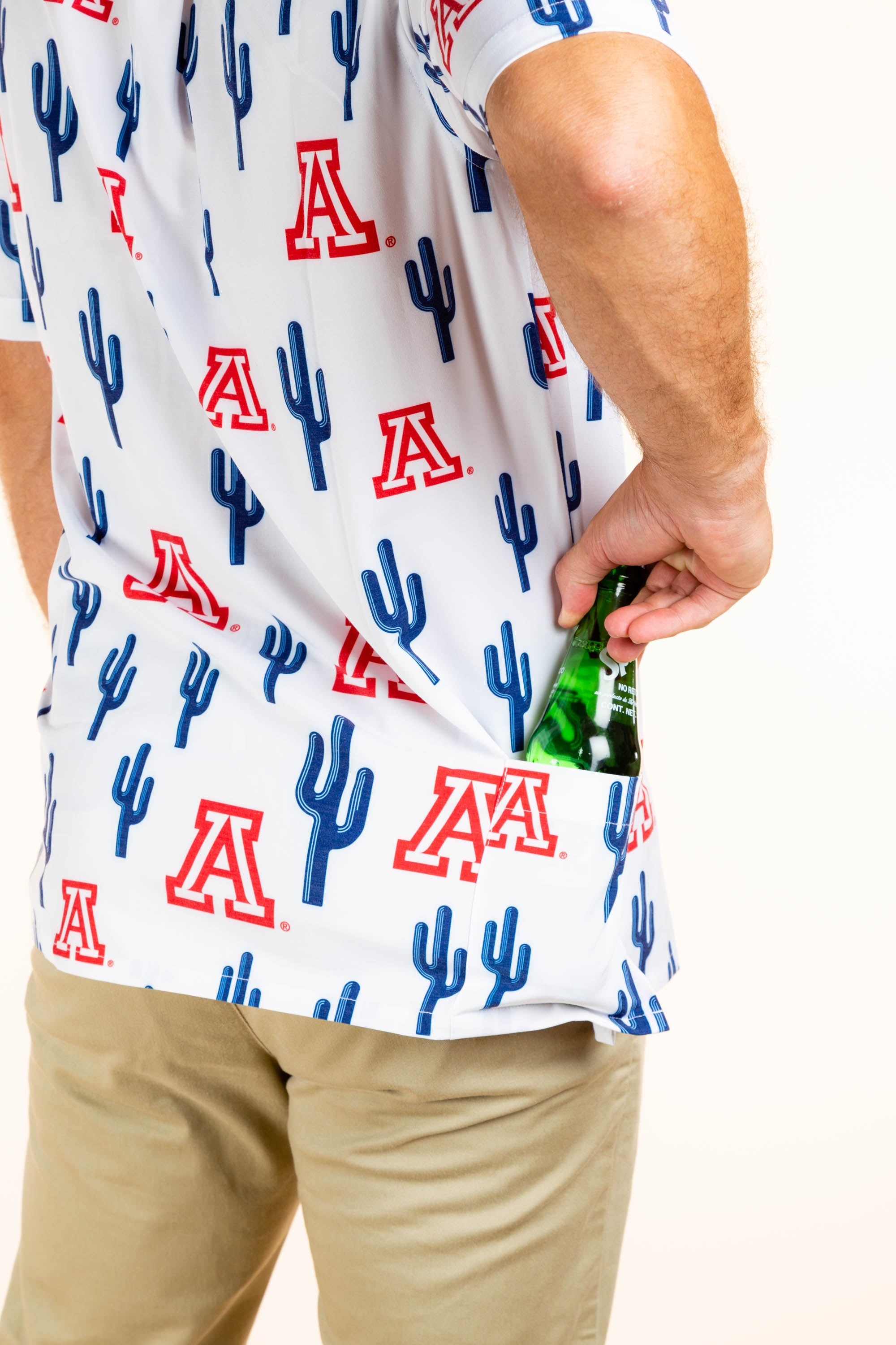 Arizona and cactus men's hawaiian