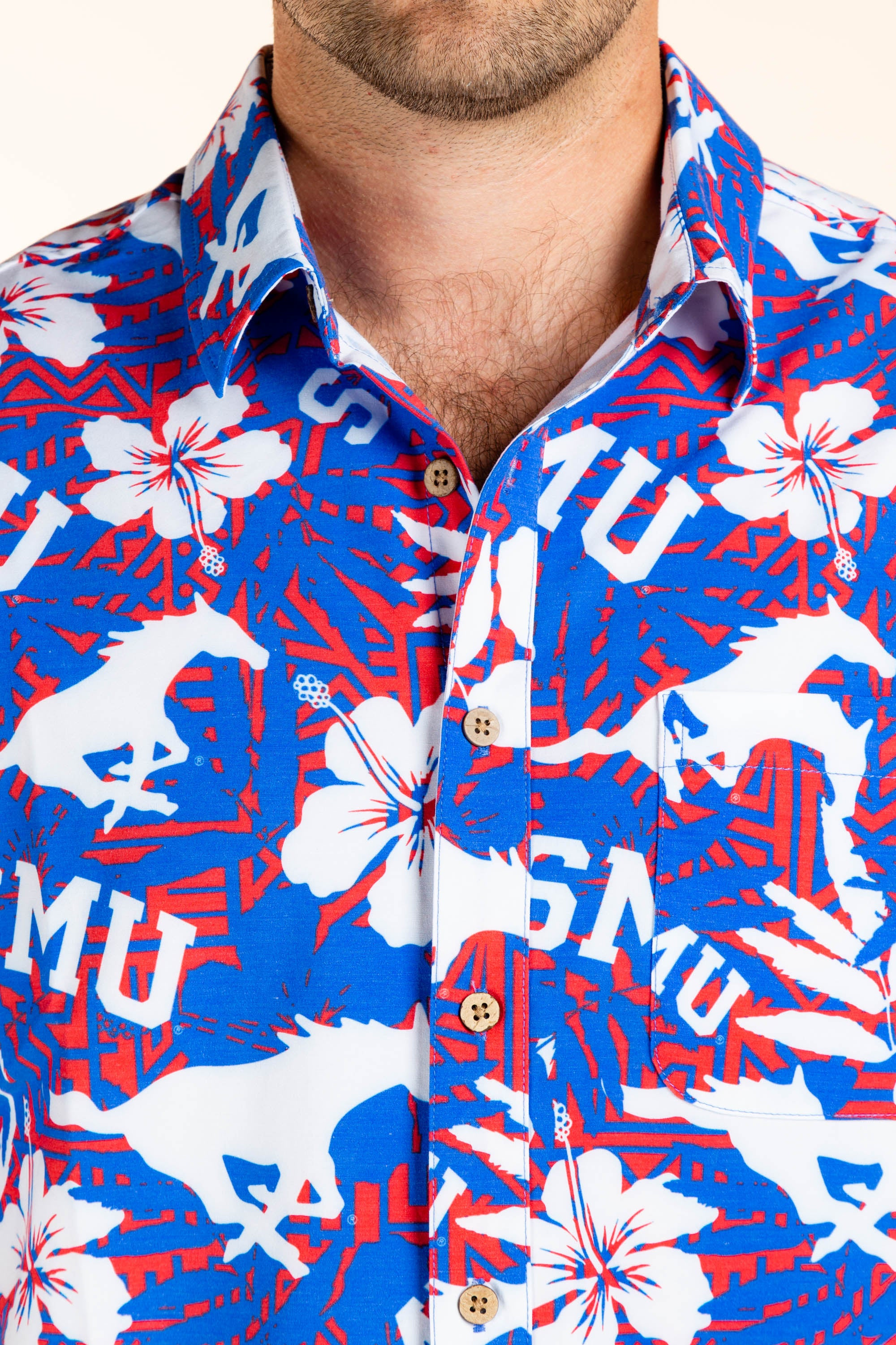 SMU Peruna Hawaiian Tailgating Shirt