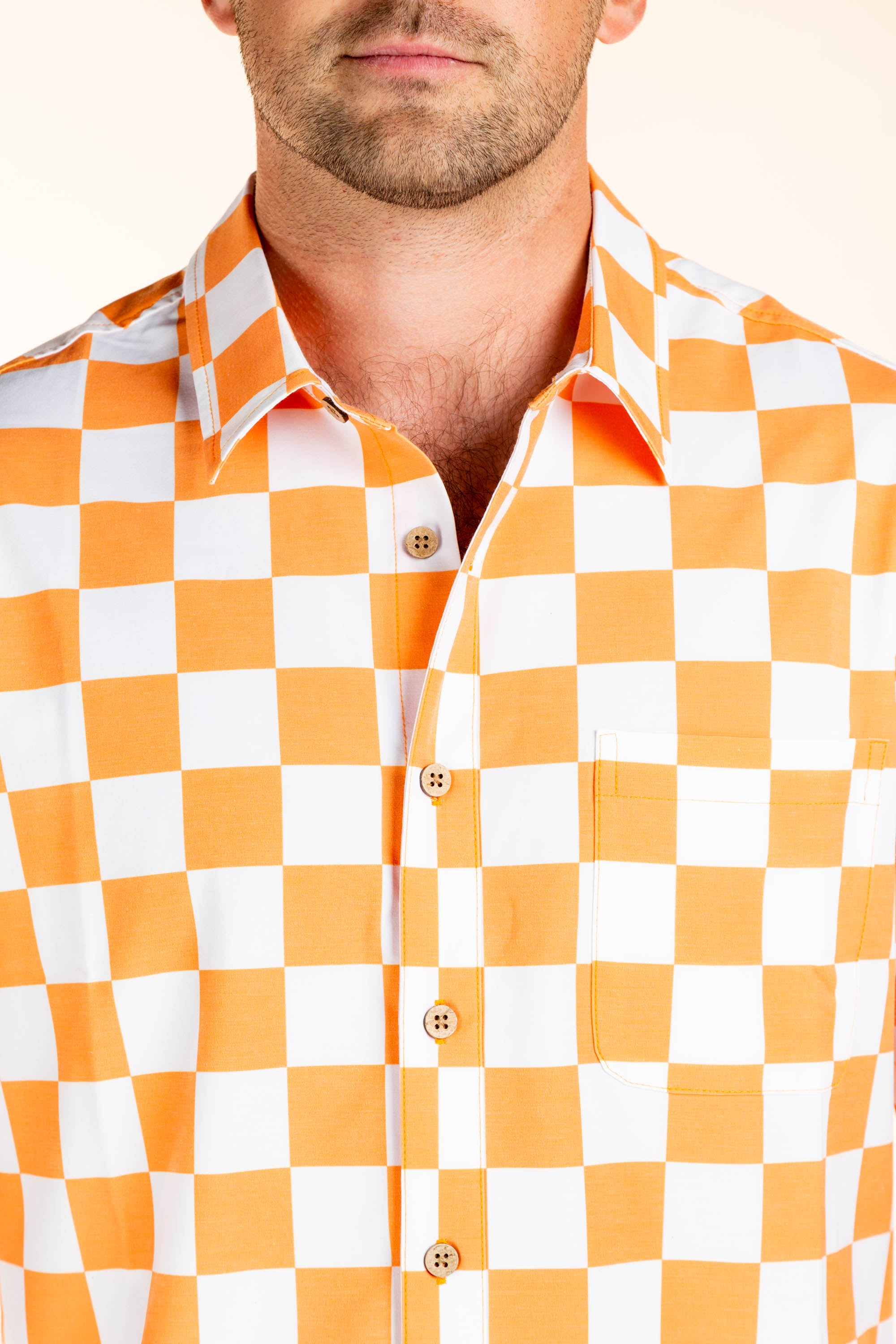 University of Tennessee Orange Checkered Party Shirt