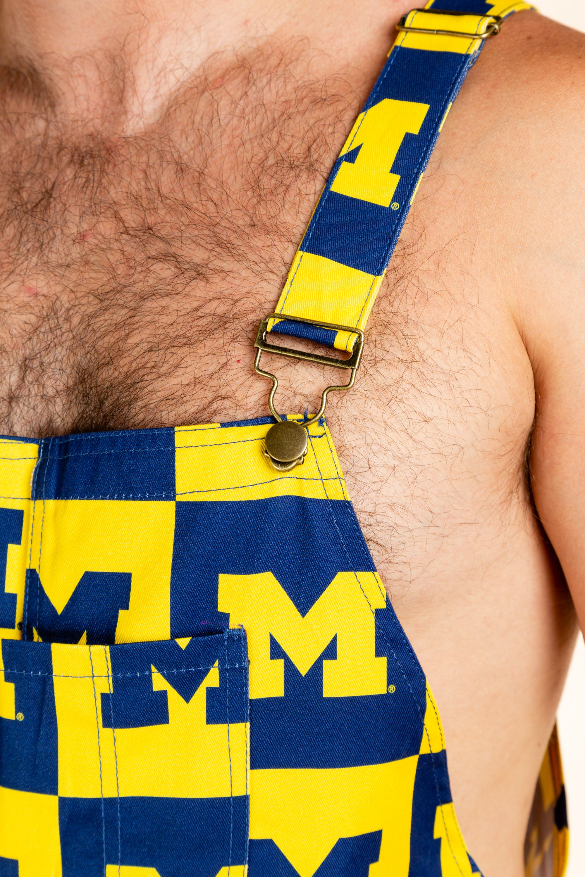The wolverine fight college football overalls