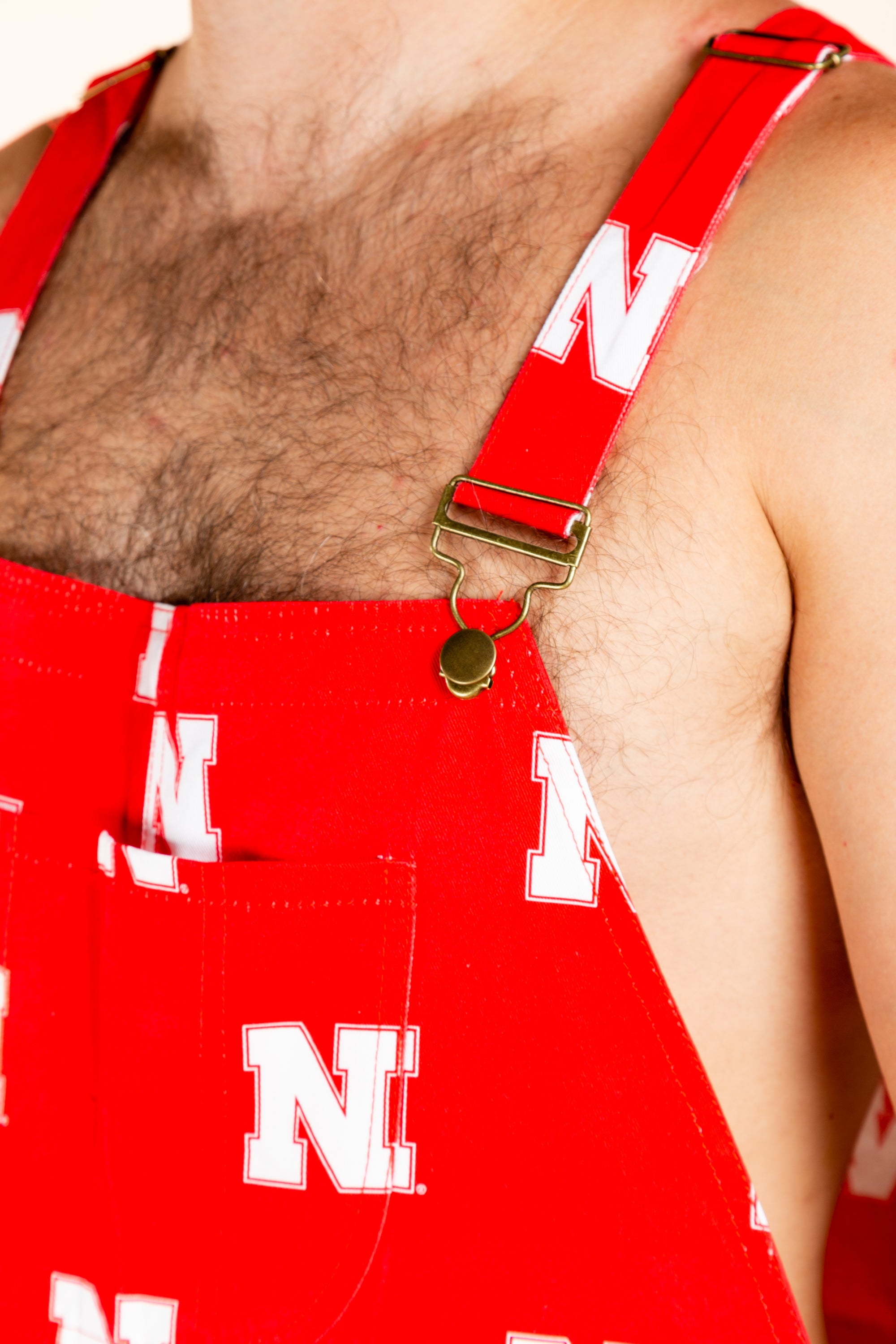 Nebraska print college football overalls