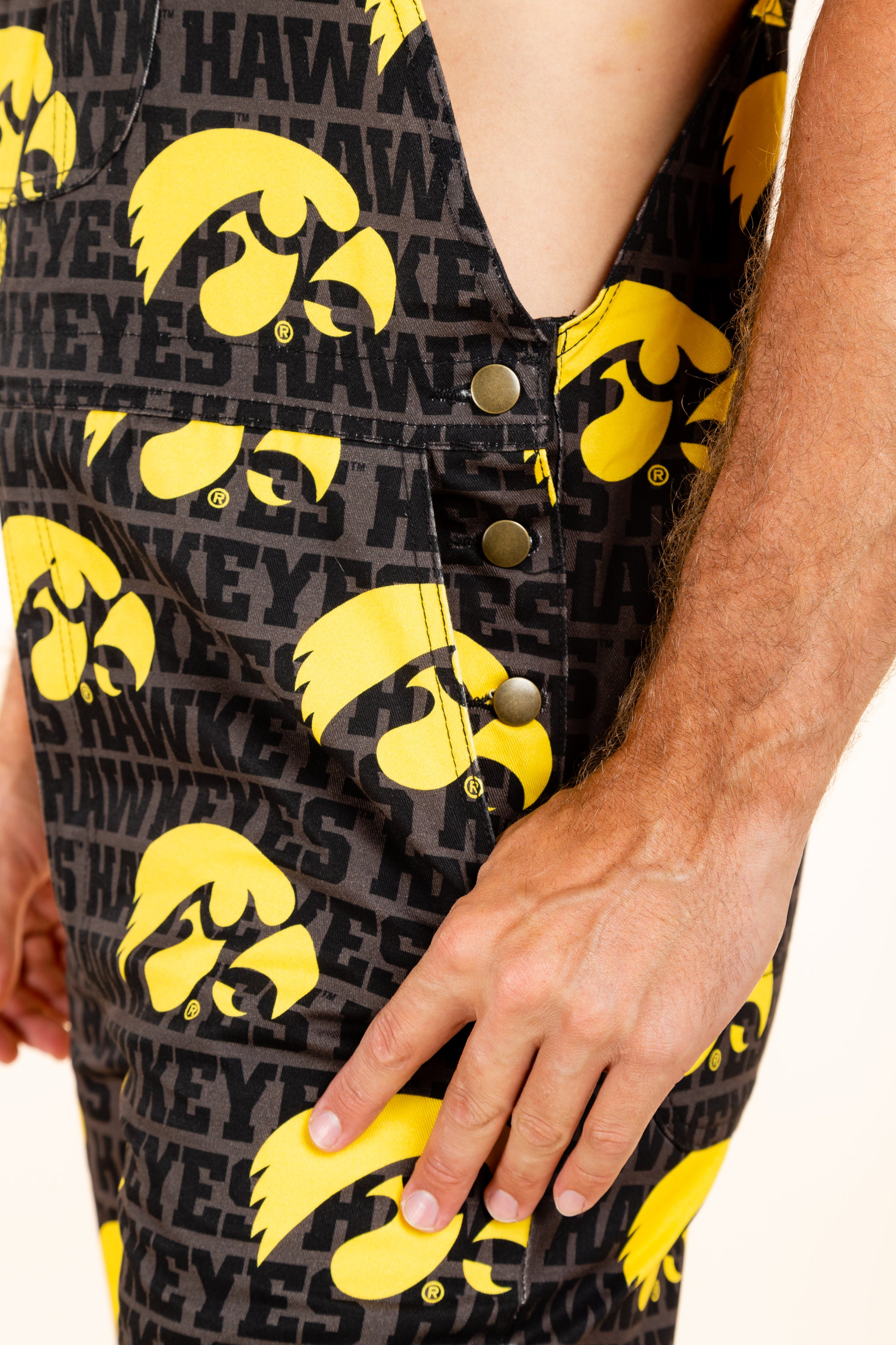 mens college football overalls with pockets