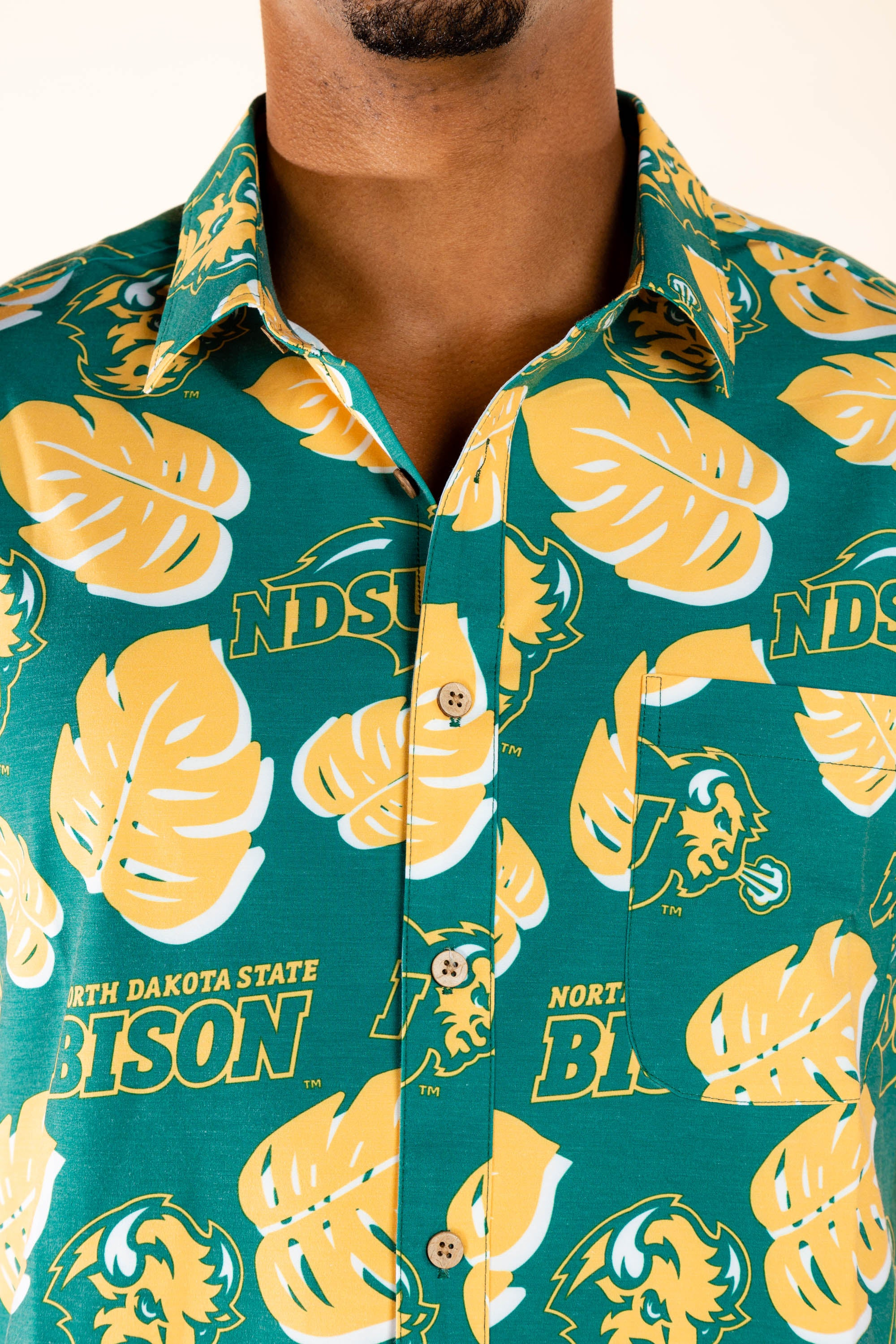 NDSU Bisons Button Up Tailgating Shirt