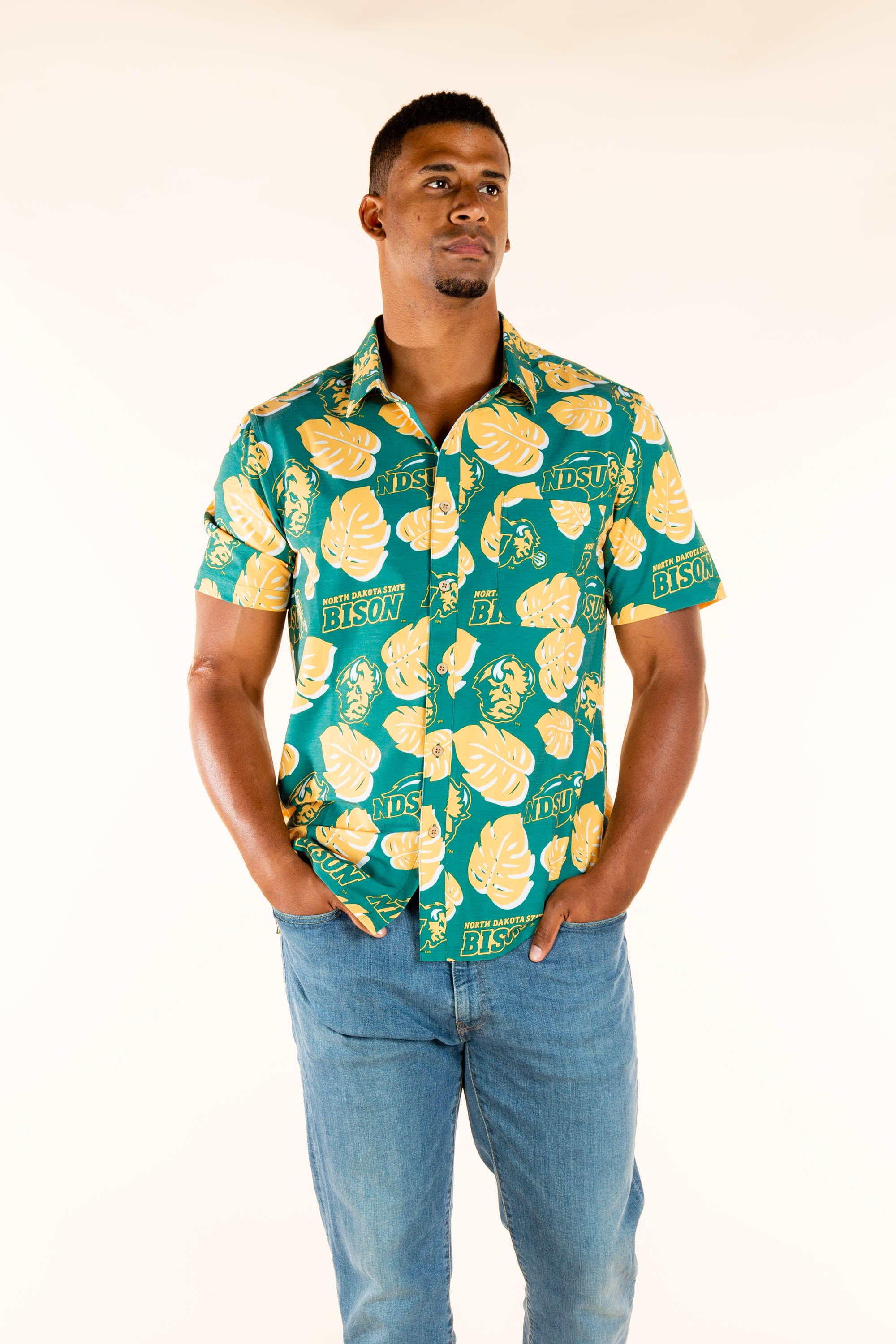 NDSU Button Up Bisons Shirt