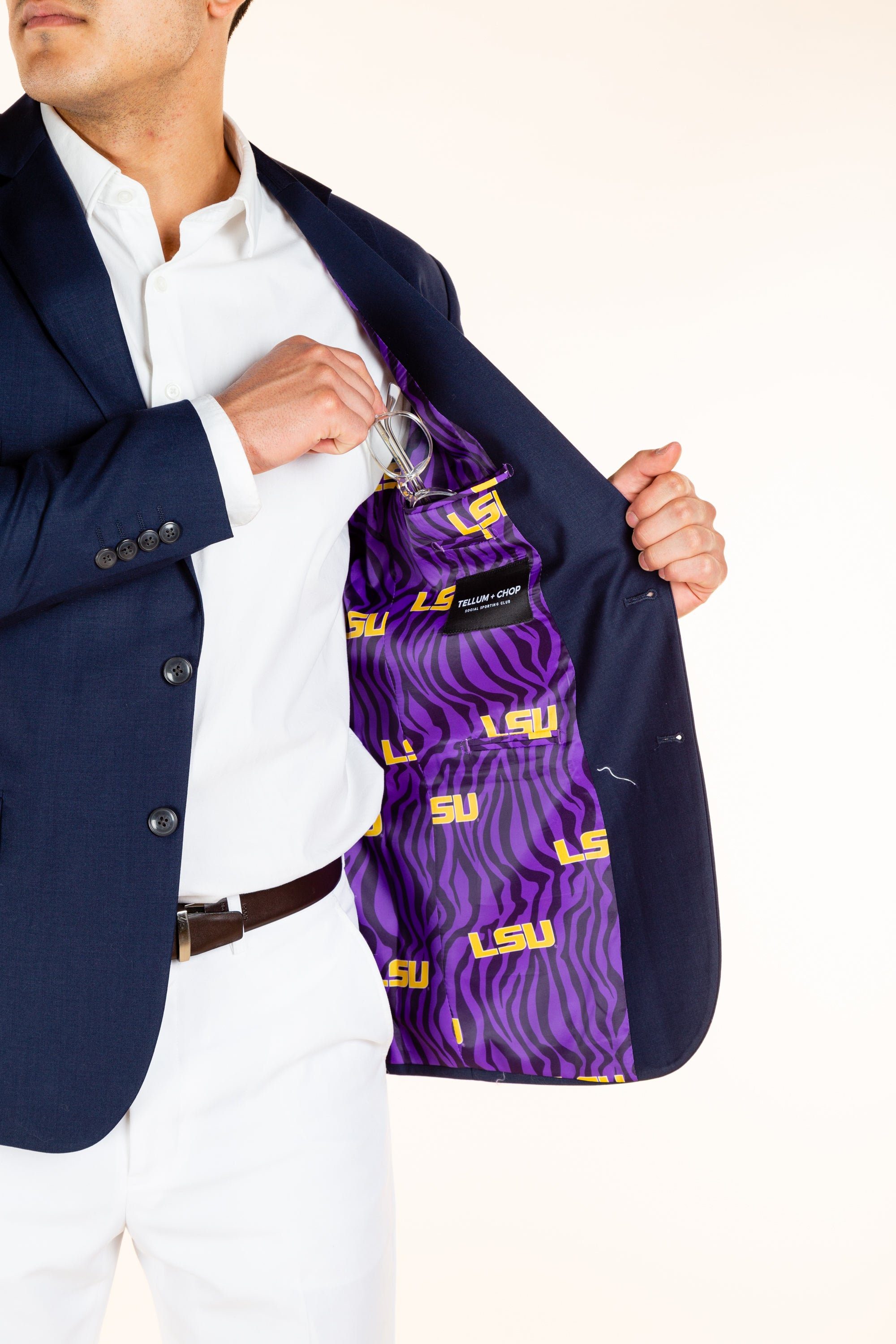 LSU purple lined madison blazer