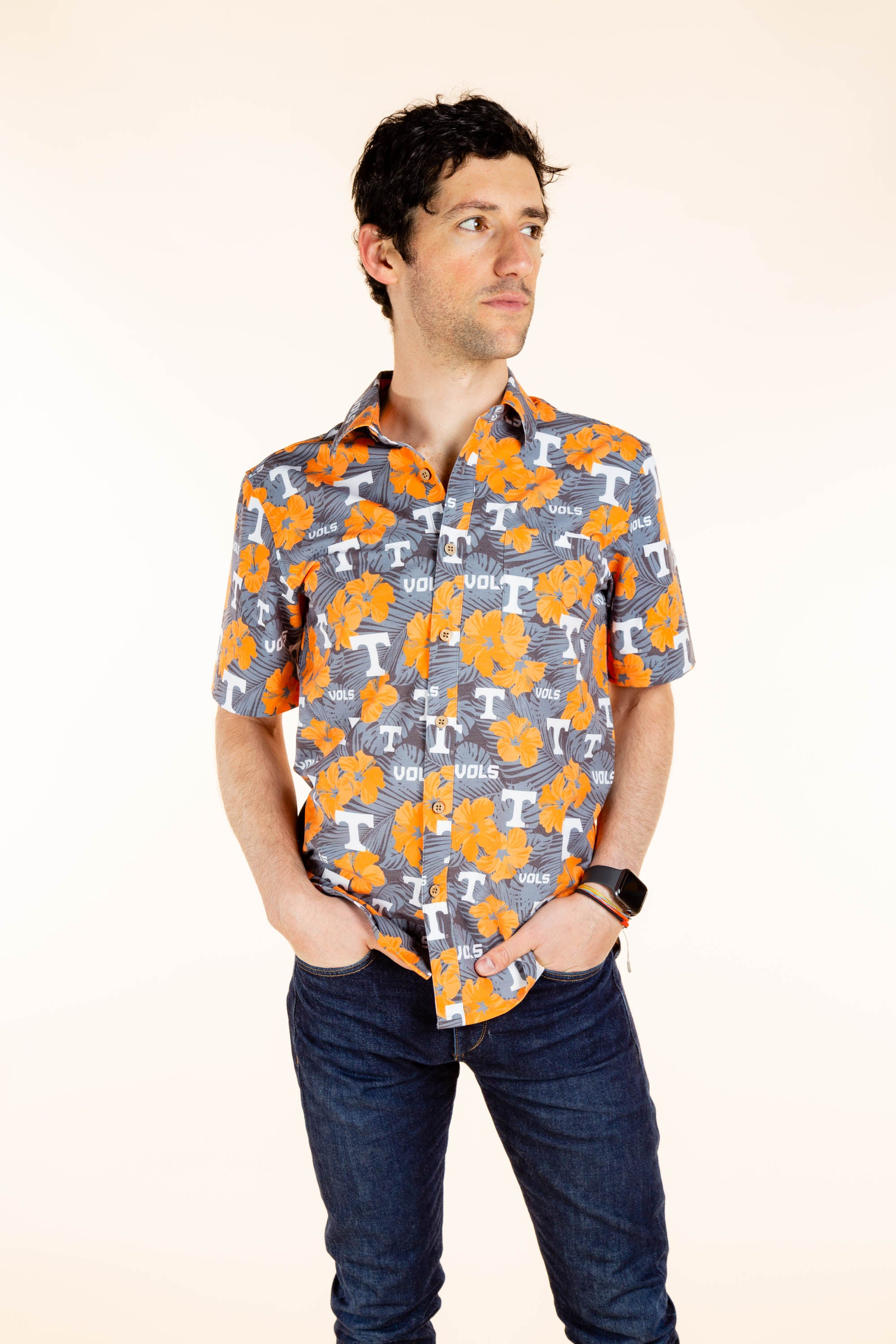 Men's Button Up UT Volunteers Party Shirt