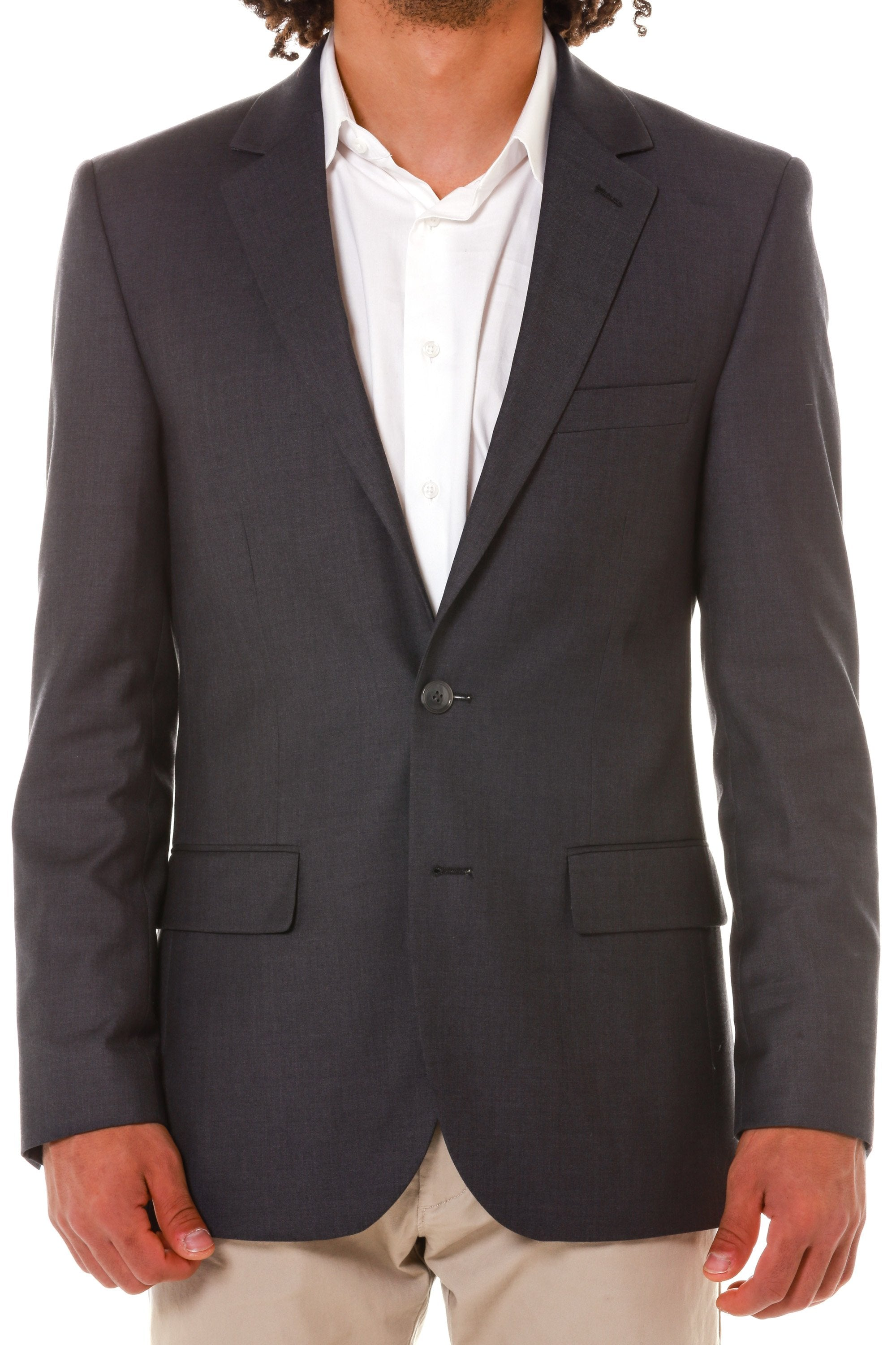 Grey mens collegiate blazer