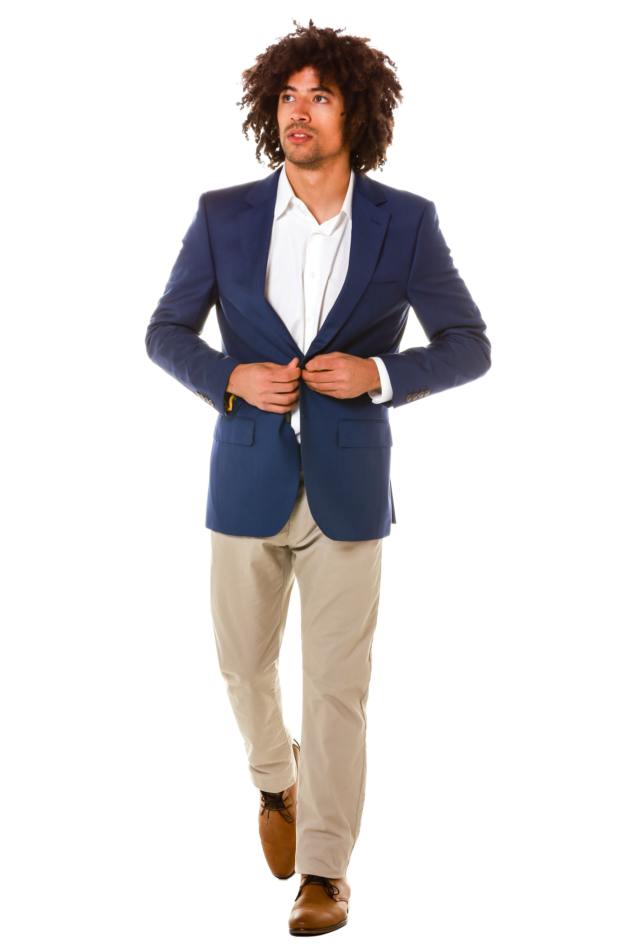 Navy blazer for men