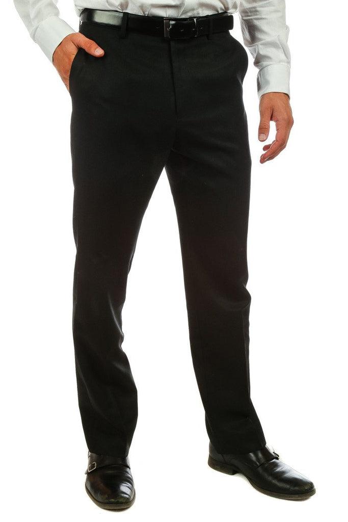 Guys All Black Suit Pants