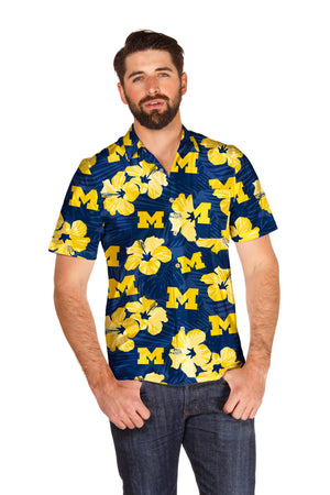 University of Michigan Wolverines Hawaiian shirt