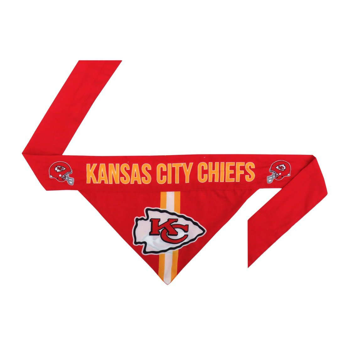 KC Chiefs Football Bandana for Pets