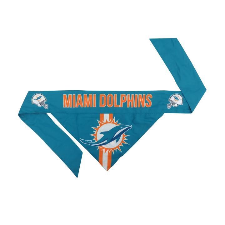 Dolphins Football Bandana for Pets