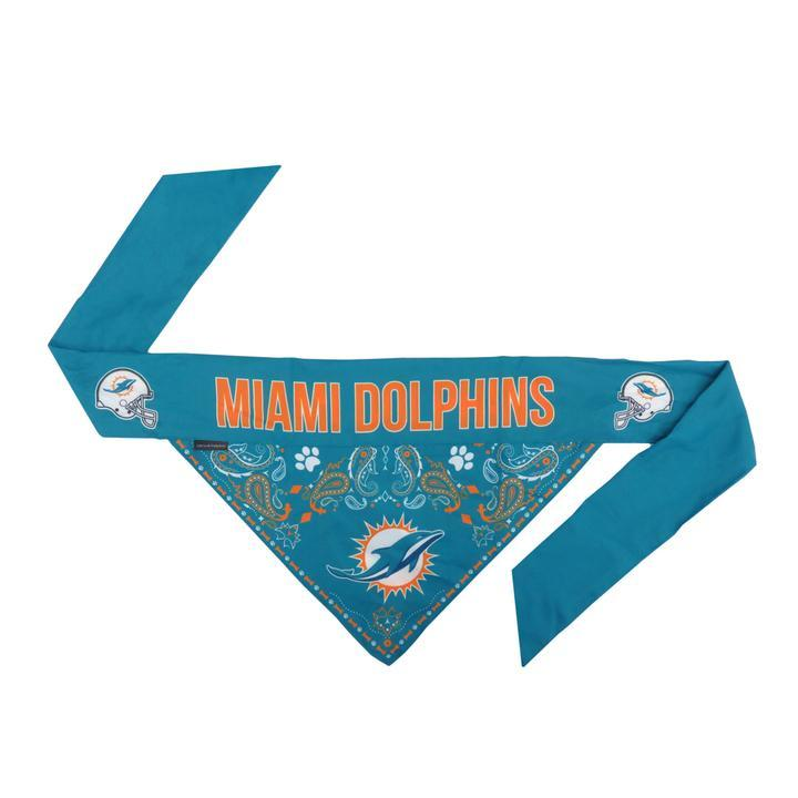 Dolphins Logo Bandana For Dogs