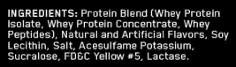 whey protein ingredients