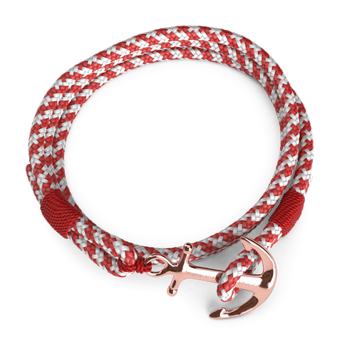 98000: Fire Red Double Rope, 24k Rose Gold