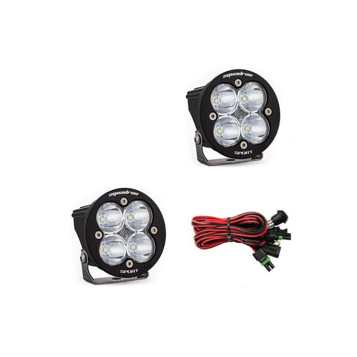 BAJA DESIGNS SQUADRON-R SPORT SPOT LED LIGHTS, PAIR