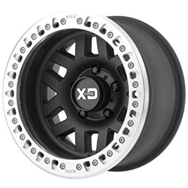 Fits JL/JK - XD Series Wheels XD229 Machete Beadlock Satin Black Wheel 17x9 5X5