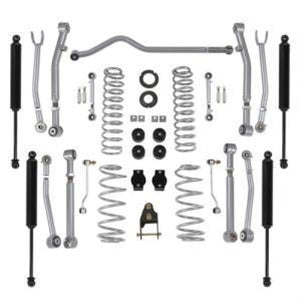 Jeep JLU 4DR: RUBICON EXPRESS - 3.5 / 4.5 Super-Flex Suspension Lift Kit with Twin-Tube Shocks