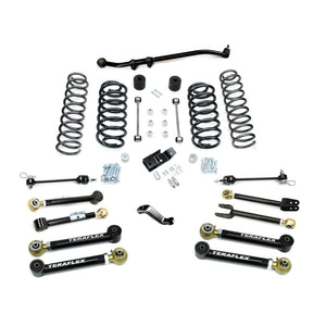 Jeep TJ/LJ: TERAFLEX - 4 Suspension System w/ 8 Flexarms - No Shocks