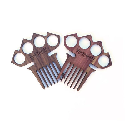 BadWolf 'Diablo' Knuckle Duster Beard Comb