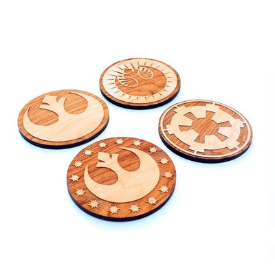 4pc. Laser Cut Star Wars Coasters