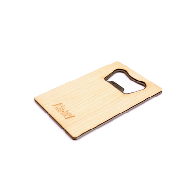 TIMBER Wood Skin Wallet Bottle Opener: Cactus Edition