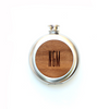 TIMBER Wood Skin 5oz. Round Flask